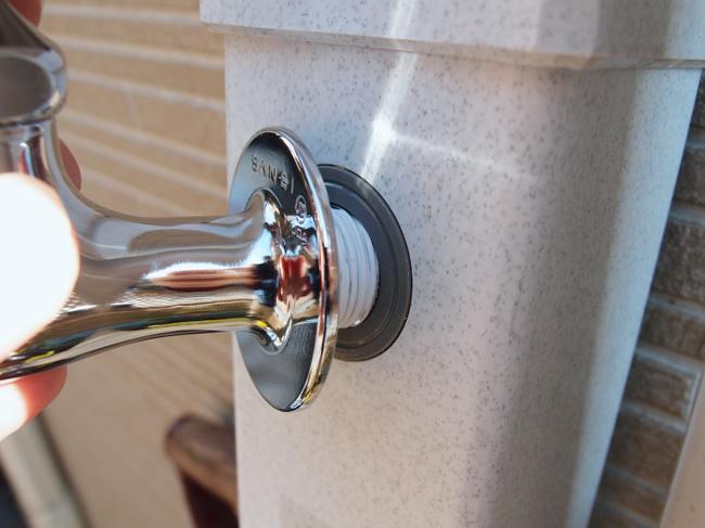 立水栓に蛇口を付ける