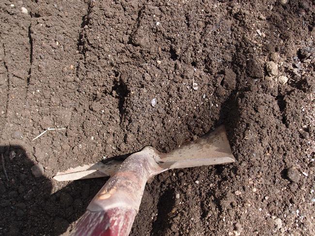 十分に土を耕す