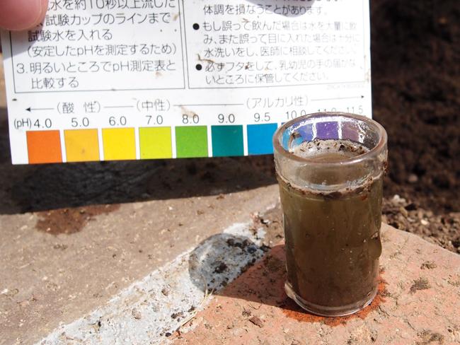 土の酸度計測