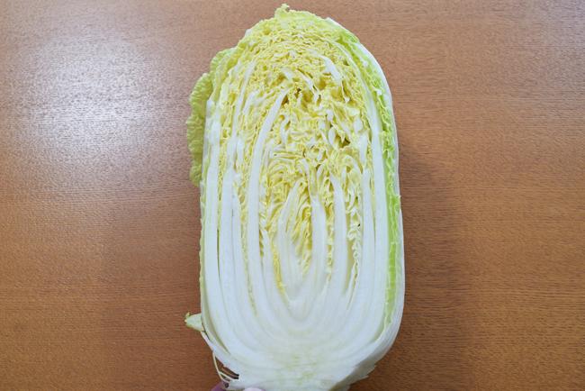 白菜の断面